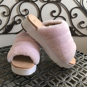 Ugg fluff sandals